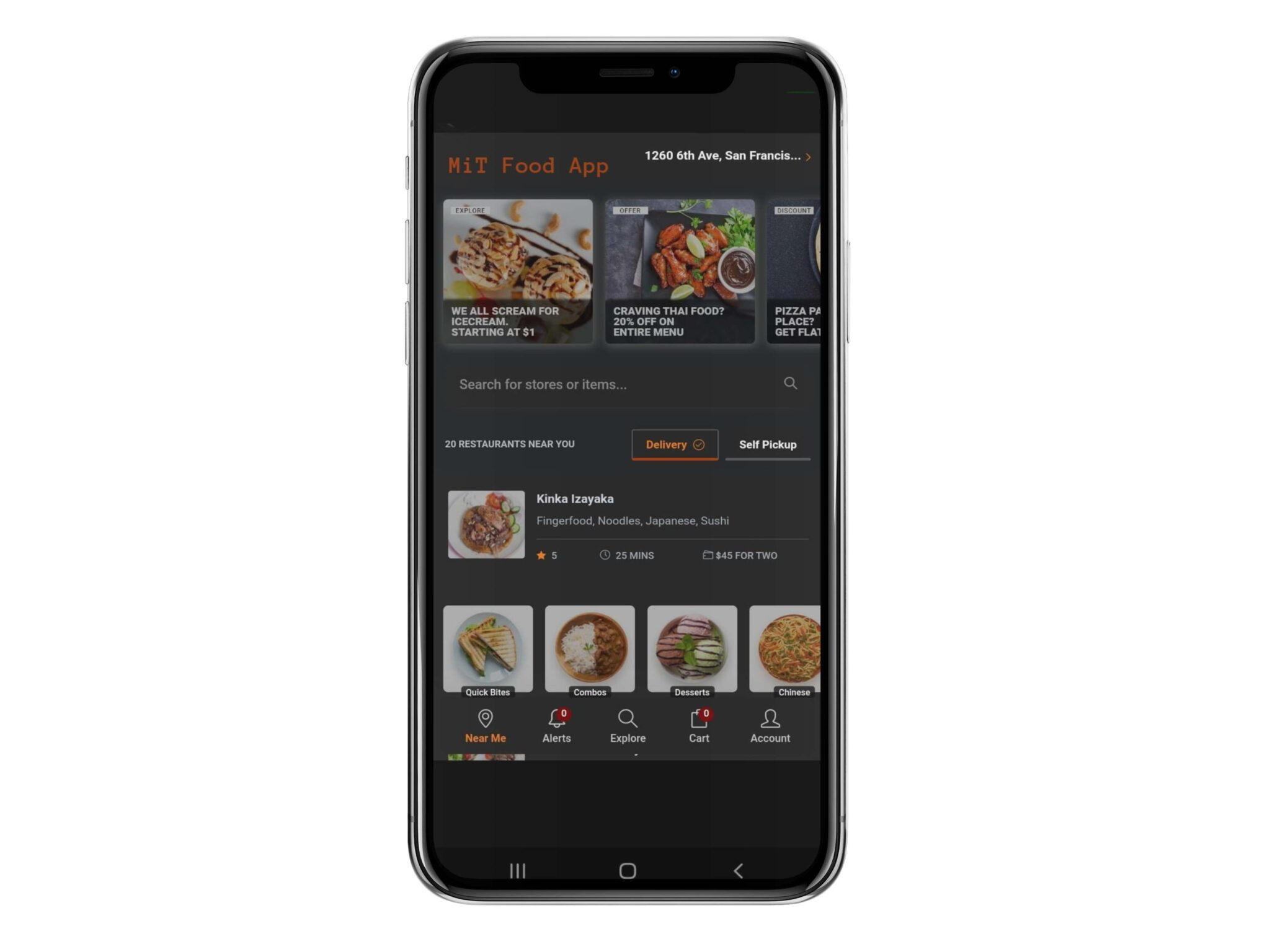 iphone x mockup against transparent background a17152 scaled MiT Food App